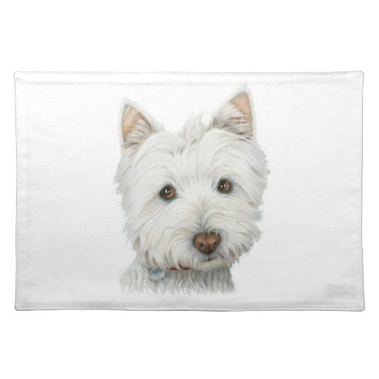 Westie Dog American MoJo Placemat