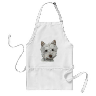 Westie dog aprons