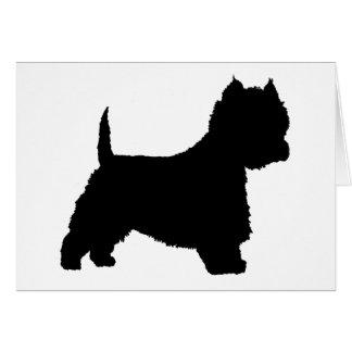 Westie Dog (black) Card