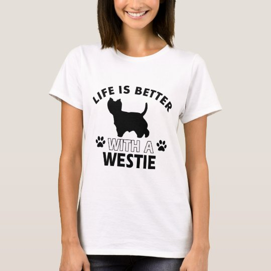 Westie dog breed designs T-Shirt