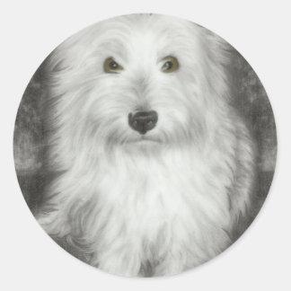 Westie Dog Classic Round Sticker