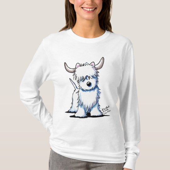 Westie Dog Highland Cow Ladies Light T-Shirt