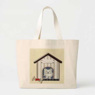 Westie Dog in Kennel Tote Bag