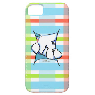 Westie Dog Inside Plaid iPhone 5 Covers