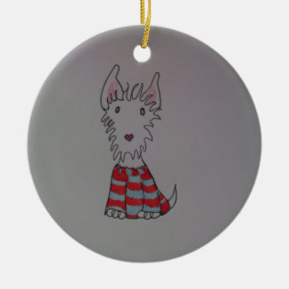 westie dog items christmas ornament