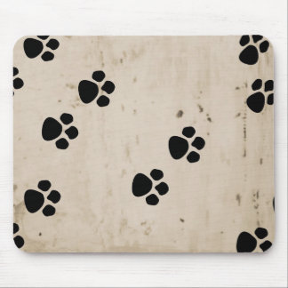 Westie Dog Paw Prints Mouse Mat