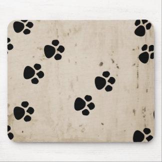 Westie Dog Paw Prints Mouse Pad