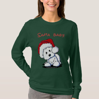 Westie Dog SANTA BABY Apparel (Dark) T-Shirt