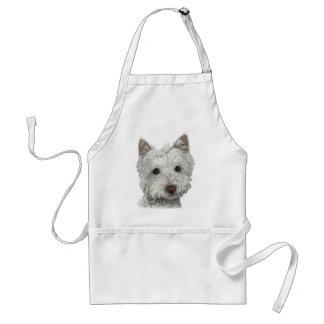 Westie dog standard apron