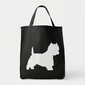 Westie Dog white Bag