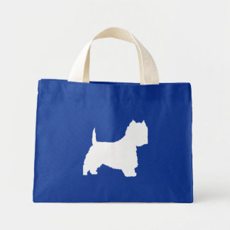 Westie Dog white Canvas Bags