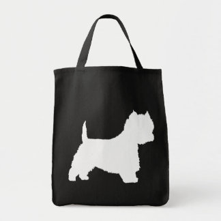 Westie Dog (white) Grocery Tote Bag