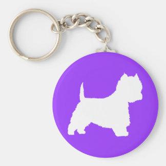 Westie Dog (white) Key Ring