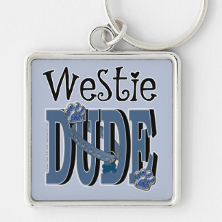 Westie DUDE Key Ring