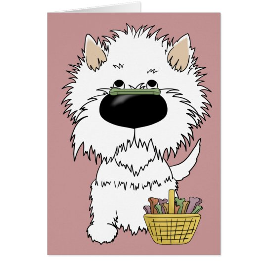 Westie - Easter Bone Hunt, Anyone? Card