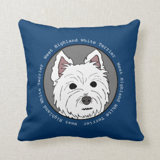 Westie Face Pillow