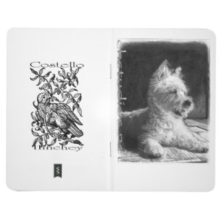 Westie Fine Art Leather Journal by chstudios.net