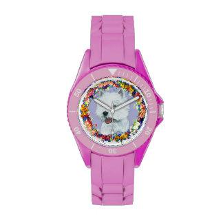 Westie Floral Wristwatches