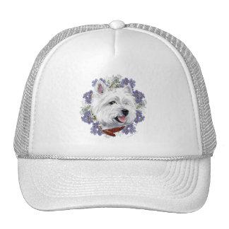 Westie Forget Me Not Trucker Hat