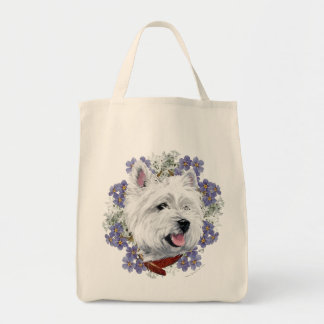 Westie Forget Me Not Tote Bag