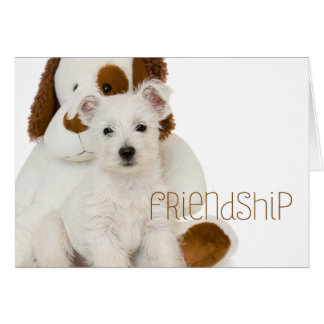 Westie Friendship Blank Note Card