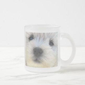 Westie Frosted Glass Coffee Mug