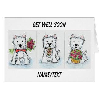 Westie Get Well Soon card friend etc.