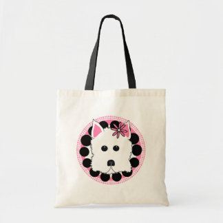 Westie Girl Budget Tote Bag
