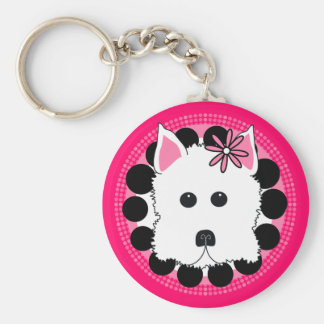 Westie Girl Key Ring