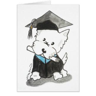 Westie Graduation Card