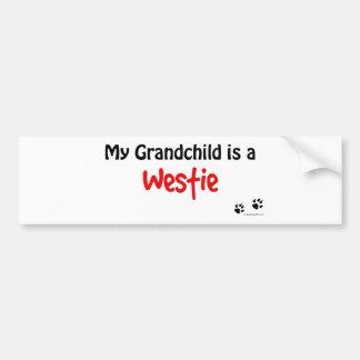 Westie Grandchild Bumper Sticker