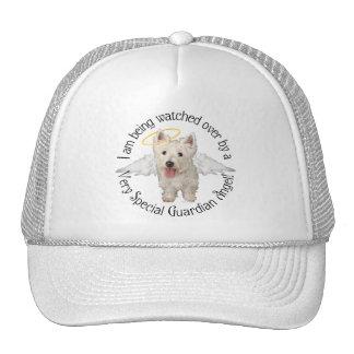 Westie Guardian Angels Hats