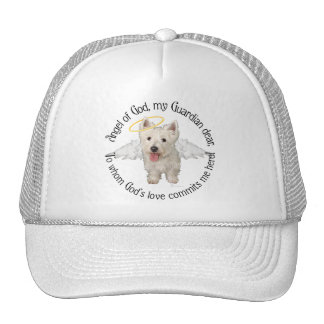 Westie Guardian Angels Trucker Hats