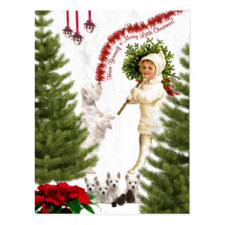 Westie Have Yourself a Merry Little Christmas Postcard