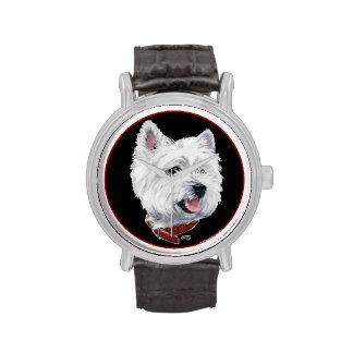 Westie Head Wrist Watches