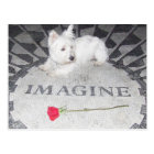 Westie Imagines World Peace Postcard