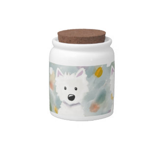 Westie Impressions Treat Jar Candy Dish