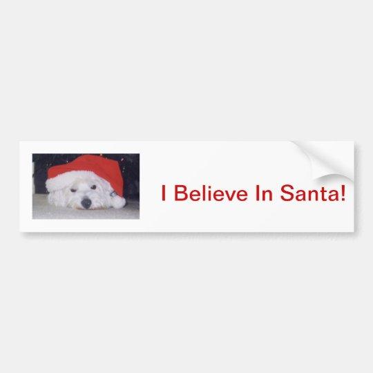 Westie in a Santa Hat Bumper Sticker