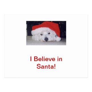 Westie in a Santa Hat Postcard