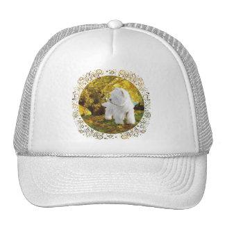Westie in Golden Woods Trucker Hat
