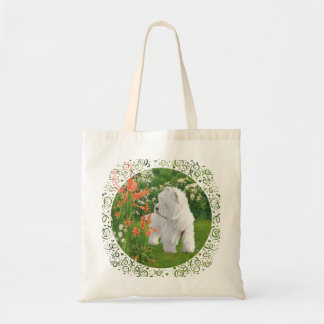 Westie in the Garden Budget Tote Bag