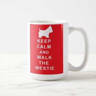 Westie Keep Calm and Walk the westie mug