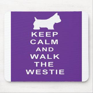 Westie Keep Calm Walk the Westie mousepad birthday