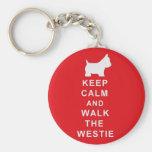 Westie keyring birthday christmas present basic round button key ring