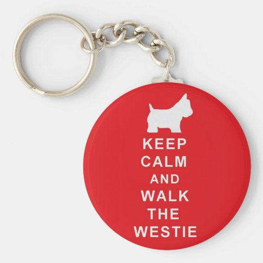 Westie keyring birthday christmas present basic round button key ring