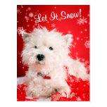 Westie Let It Snow Greeting #2 Postcard
