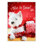 Westie Let It Snow Greeting #3 - Customisable Card