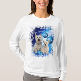 Westie Let It Snow Holiday Greeting T-Shirt