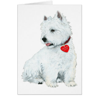 Westie Love Card