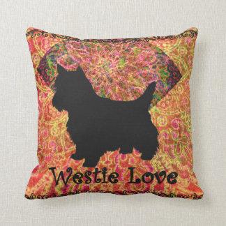 Westie Love pillow by Carol Zeock Cushions